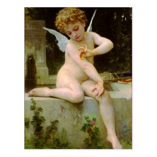 Cupidon et papillon par Bouguereau Carte Postale