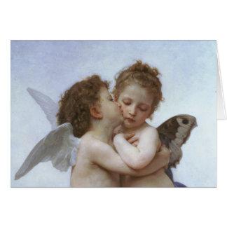 Cupidon et psyché comme Babys Carte De Vœux
