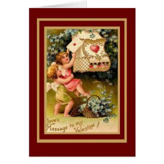 Cupidon vintage de Valentine de carte