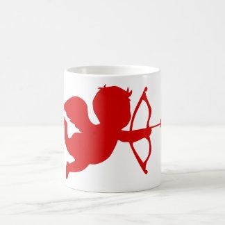 Cupidon x2 réglé mug blanc