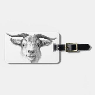 Curious goat  G124 Étiquette À Bagage
