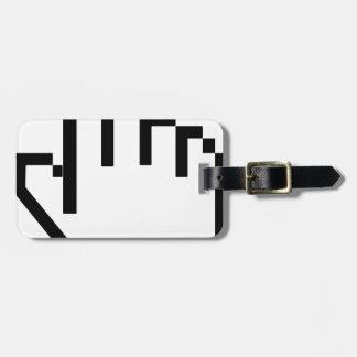 Curseur d'indicateur de main étiquette à bagage
