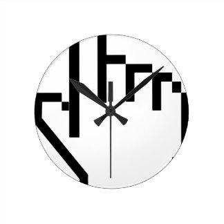 Curseur d'indicateur de main horloge ronde