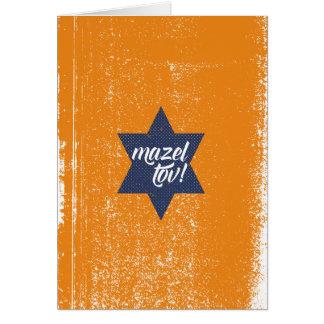 Cursive de Mazel Tov Carte De Vœux