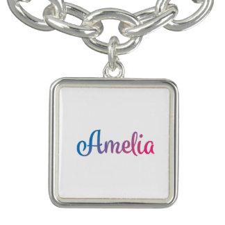 Cursive élégant d'Amelia Bracelet