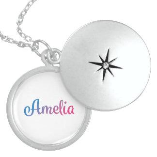 Cursive élégant d'Amelia Pendentifs