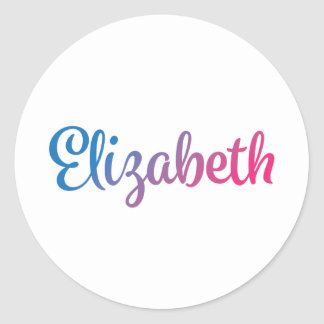 Cursive élégant d'Elizabeth Sticker Rond