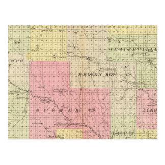 Custer et comté de Logan, Nébraska Carte Postale