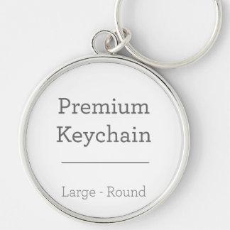 Customisé autour du porte - clé de photo porte-clé rond argenté