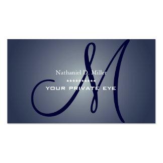 Customisez ce carte de visite de monogramme