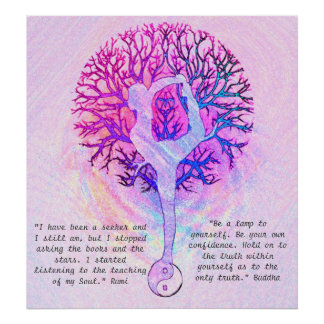 Customisez cette affiche - yoga rose Yin Yang Poster