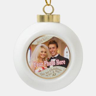 Customisez-le ! Notre ęr Noël comme M. et Mme #3 Boule En Céramique
