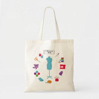 Customisez l'étiquette cousent juste sacs
