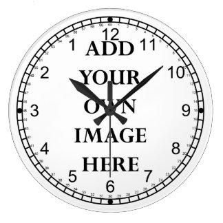 customisez votre horloge inverse folle de cadran