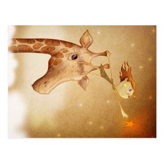 Cute and imaginative illustration carte postale