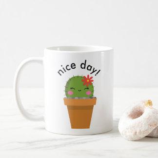 cute cactus mug, Nice day mug