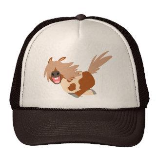 Cute Cartoon Happy Pinto Pony Trucker Hat