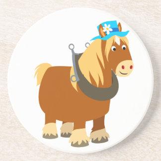 Cute Cartoon Trait Breton Horse Coaster