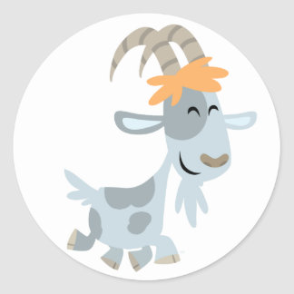 Cute Cool Cartoon  Goat Sticker