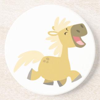 Cute Laughing Cartoon Pony Coaster