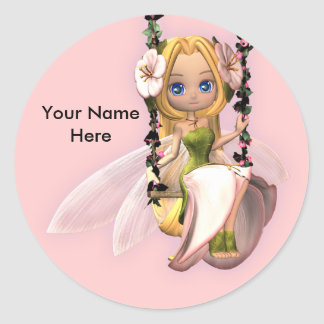 Cute little fairy sticker Personalise this item