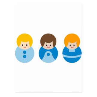 CuteBubbleBoys4 Carte Postale