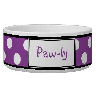 Cuvette de chien personnalisée par pourpre de poin bol pour chien