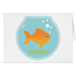 Cuvette de poisson rouge cartes de vœux