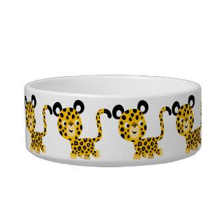 Cuvette de sourire de chat de léopard de bande des bols pour chat