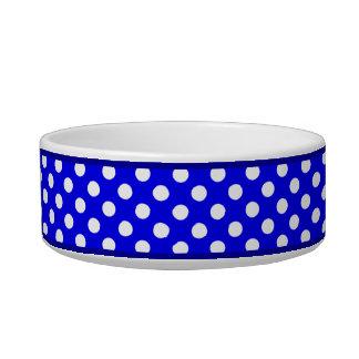 Cuvette en céramique bleue de chien de motif de bol pour chat