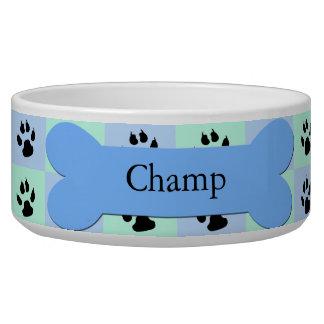 Cuvette faite sur commande personnalisée de chien  bols pour chien