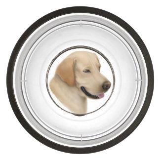 Cuvette jaune amicale de chien de labrador écuelles pour animaux