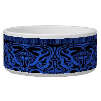 Cuvette noire et bleue de chien bol pour chien
