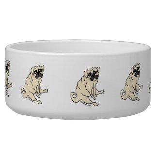 Cuvette patiente de chien de carlin bol pour chien