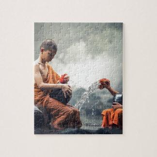Cuvettes de lavage de moines bouddhistes puzzle
