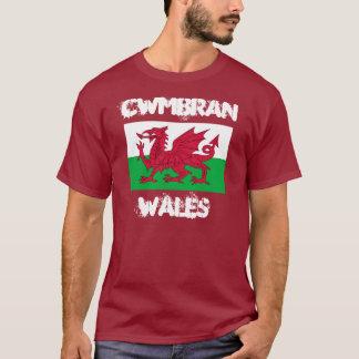Cwmbran, Pays de Galles avec le drapeau de Gallois T-shirt