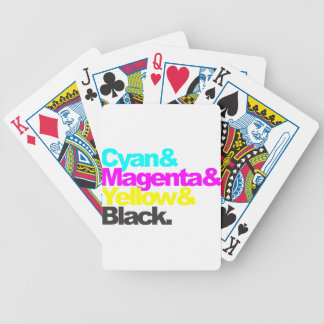 Cyan and Magenta and Yellow and Black Jeu De Poker