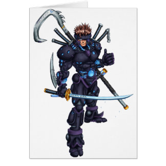 Cyber Ninja Carte De Vœux