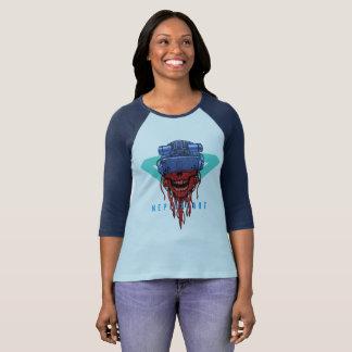 cyber skull neplealart 2 t-shirt