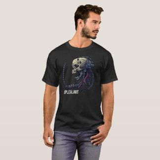 cyber skull neplealart t-shirt