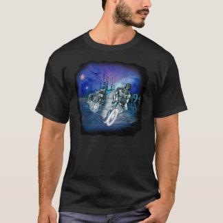 Cyborg contre la chemise de robots t-shirt