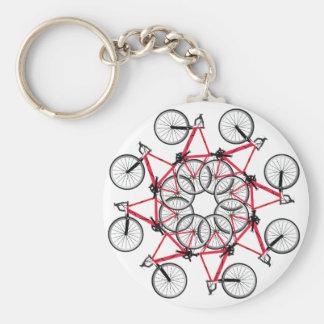 Cycle de bicyclette porte-clé rond