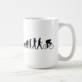 Cycle de recyclage de cavaliers de bicyclette d'év tasse à café