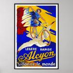 Cycles d'Alcyon - art vintage français de Poster