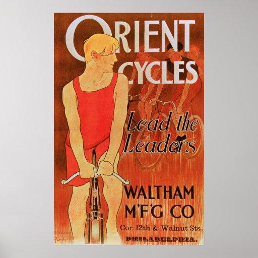 Cycles de l'Orient - affiche vintage de bicyclette