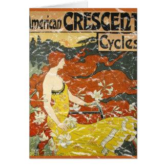 Cycles en croissant américains - affligés carte de vœux