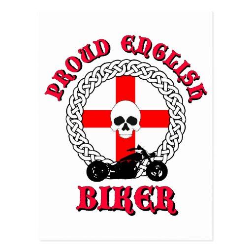 Cycliste anglais fier carte postale
