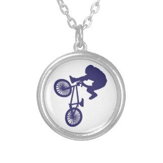 Cycliste de BMX Pendentif Rond