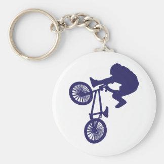 Cycliste de BMX Porte-clé Rond