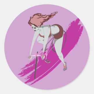 Cycliste de Bubblegum Sticker Rond